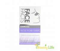 Face Facts Очищающие полоски для носа Charcoal 6шт