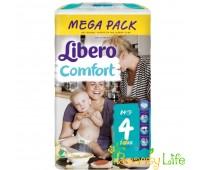 """Дышащие детские подгузники Libero Comfort """"4"""" (7-11 кг), 84 шт"""
