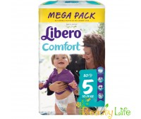 """Дышащие детские подгузники Libero Comfort """"5"""" (10-14 кг), 80 шт"""