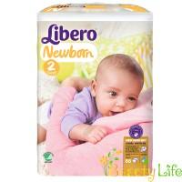 Дышащие детские подгузники Libero Newborn 2 (3-6 кг), 88 шт
