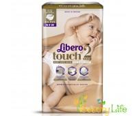 Дышащие детские подгузники Libero Touch 2 (3-6 кг), 66 шт