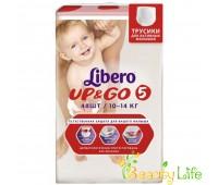 Дышащие детские подгузники-трусики Libero Up&Go 5 (10-14 кг), 48 шт