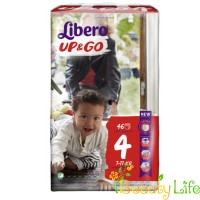 Дышащие детские подгузники-трусики Libero Up&Go 4 (7-11 кг), 46 шт