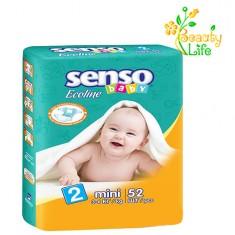 Подгузник «SENSO baby Ecoline» MINI (2)  3-6 кг  52 шт