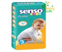 Подгузник «SENSO baby Ecoline» MIDI (3)  4-9 кг  44 шт