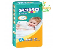 Подгузник «SENSO baby Ecoline» MAXI (4)  7-18 кг  40 шт