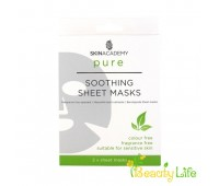 Skin Academy Pure маска тканевая для лица Soothing 2шт