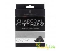Skin Academy Маска тканевая для лица Charcoal 2шт