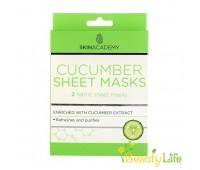 Skin Academy Маска тканевая для лица Cucumber 2шт