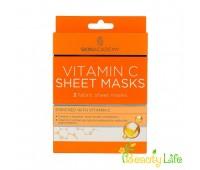 Skin Academy Маска тканевая для лица Vitamin C 2шт
