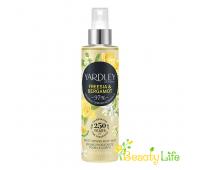 Yardley Мист увлажняющий парфюм для тела Freesia & Bergamot