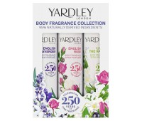 Yardley Набір класичних дезодорантів 3*75мл